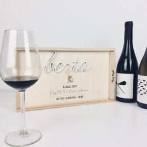 caja vino doble