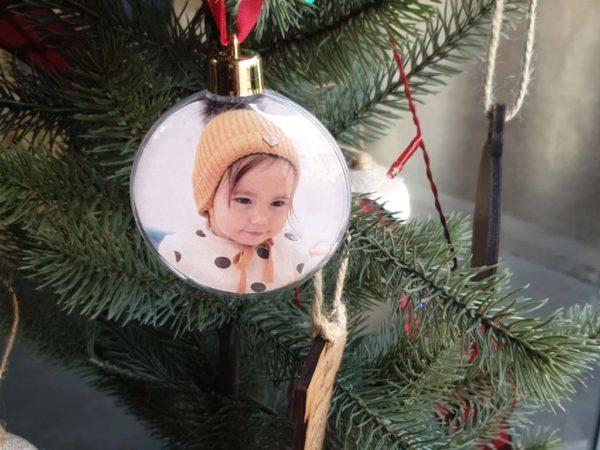 bola de navidad con imagen