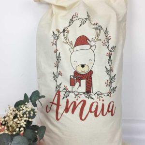 saco personalizado regalos reno